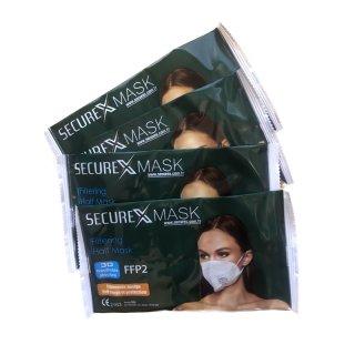 FFP2 Maske SECUREX I zertifizierte Mund-Nasen Schutzmasken